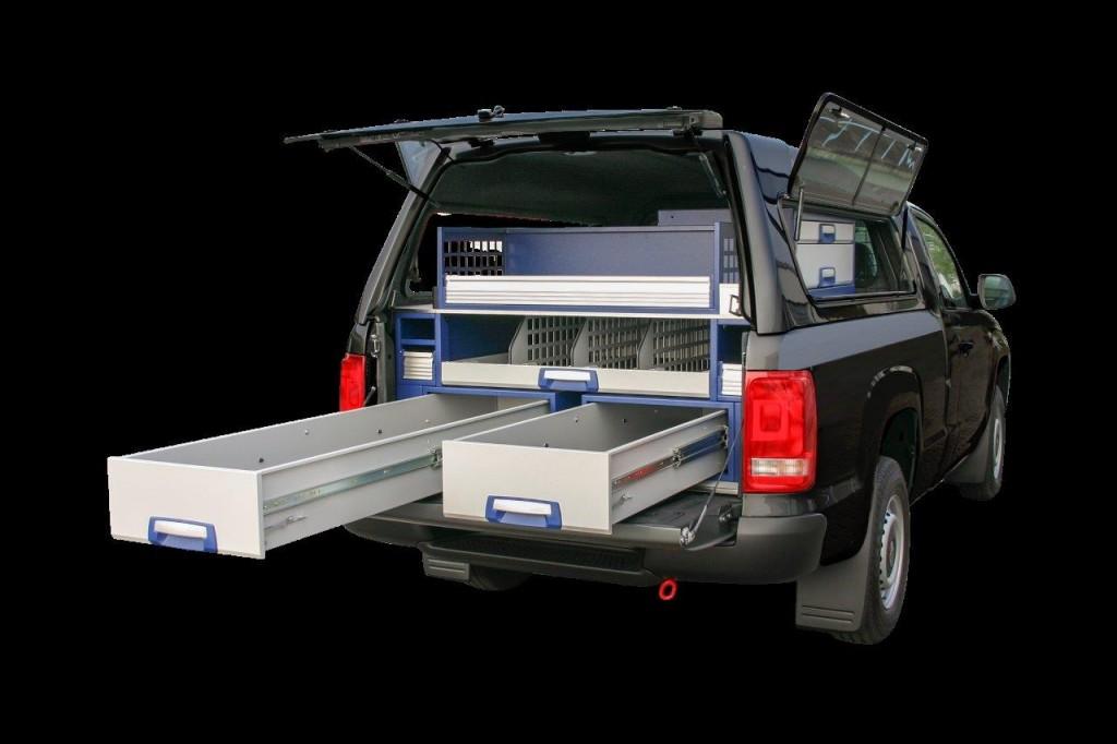 Abverkauf Fahrzeugeinrichtung VW Amarok Ansicht hinten 1